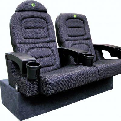 Home cinema seating carpeted plinth step