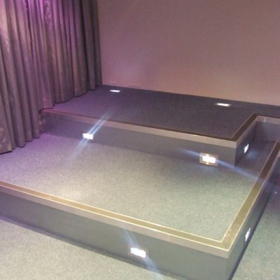 Home cinema seating steps and staging