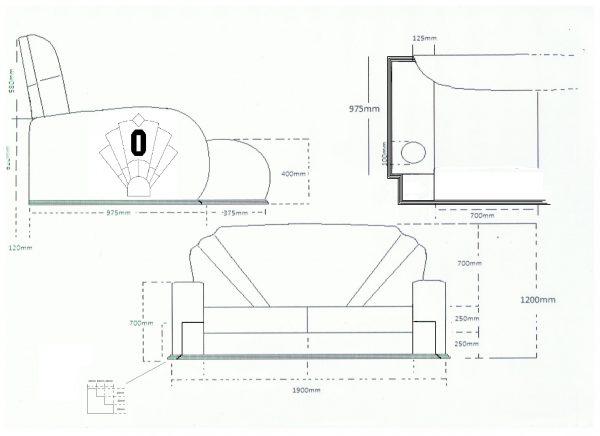 A1 Sofa Drawing