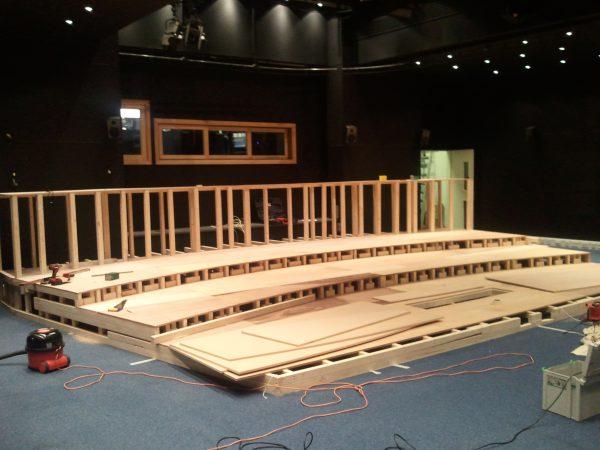 Stage build in progress