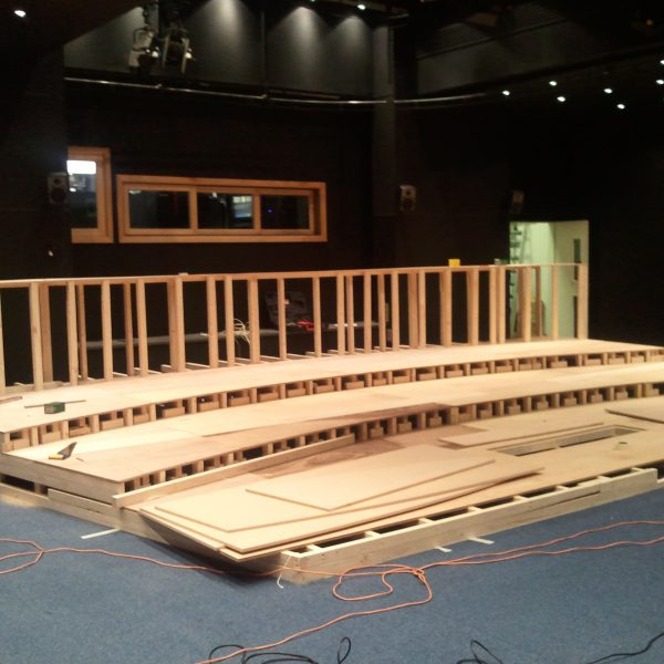Timber steps and staging my cinema uk for Stages in house construction