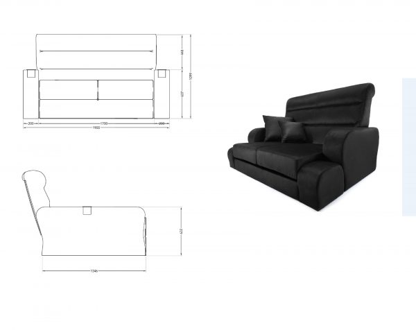 Prince day bed – Cad block
